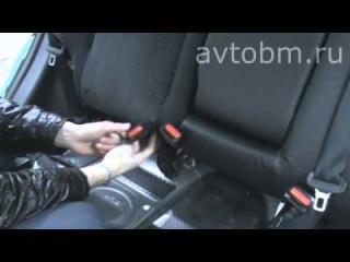Установка авточехлов на сидения автомобиля