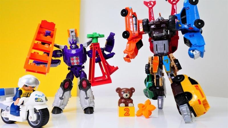 Giga Tobot gegen Galvatron - Welcher Roboter ist stärker - Spielzeugvideo für Kinder