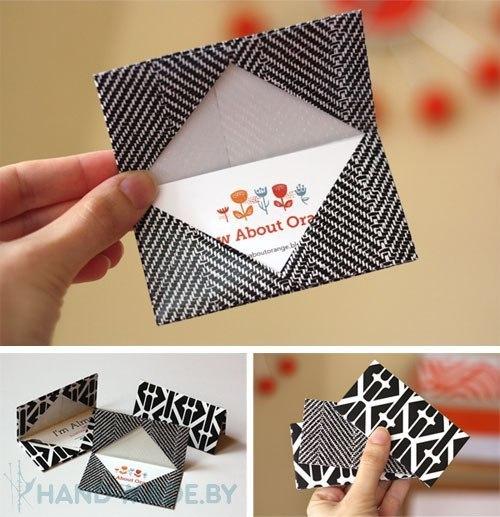 Сделать визитку из бумаги