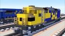 Minecraft Santa Fe SDF40-2 (SDP40F) Locomotive Tutorial