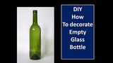 DIY decorate empty wine bottle with white cement room decor,home decor