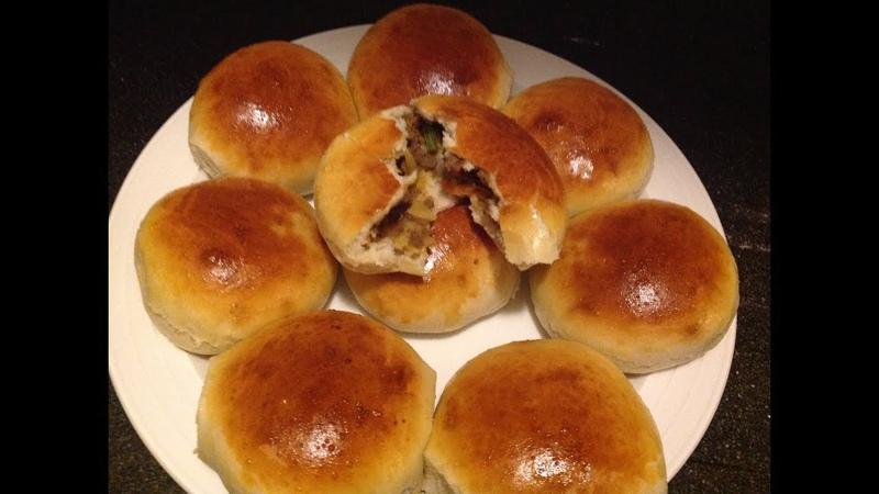 Булочки с мясной начинкой / Rooti hilib shishiid | Ground beef bread