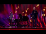 Salvador Sobral performs with Caetano Veloso at the 2018 Eurovision Song Contest