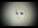 рисую Эльзу