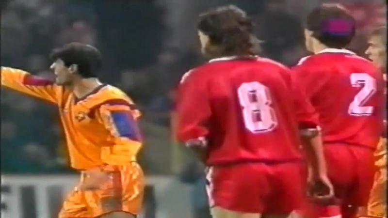 ЛЧ 1991-92 | 1-8 финала | Ответный матч | Кайзерслаутерн - Барселона | 2 тайм