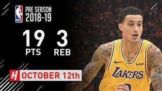 Kyle Kuzma Full Highlights Lakers vs Warriors - 2018.10.12 - 19 Pts, 3 Rebounds!