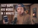 FAST RAP 400 words in 1 minute