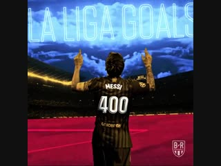 Lionel Messi becomes the first player to ever score 400 goals in La Liga - -