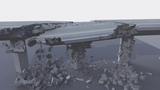 Cinema 4D bridge destruction + Breakdown (R19 Fracture Voronoi R&ampD) Redshift
