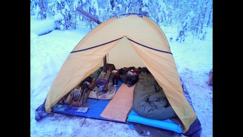 Зимний поход с палаткой и печкой 05 01 2019 Идолы