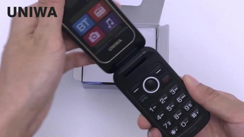 UNIWA X18 1.77 дюймовый экран с двумя SIM-картами для мобильных телефонов