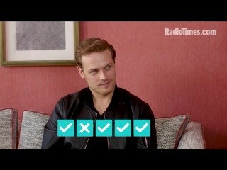 How well does sam heughan know outlander?