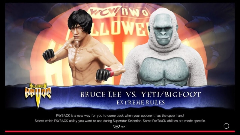 Bruce Lee vc. Yeti Bigfoot WWE 2k19 CPU vs. CPU