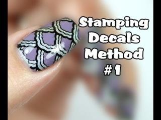 Как сделать цветную наклейку с помощью стемпинга