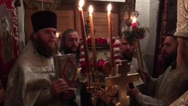 Начало Пасхальной Заутрени Храм св великомученика Георгия Победоносца