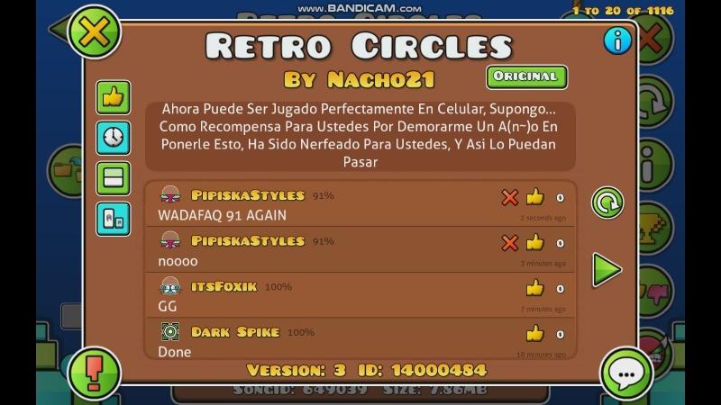 Geometry Dash l Retro Circles [Easy Demon] l 100%