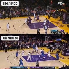 """NBA on ESPN on Instagram: """"Luka's added the Dirk fade to his game 👀"""""""
