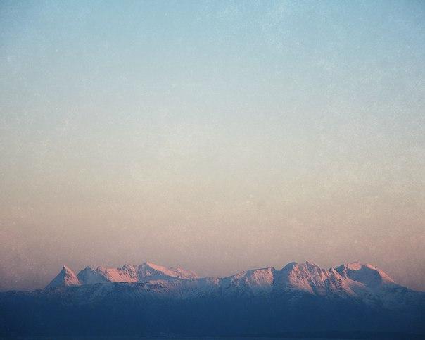 Зимнее солнце заполярной Норвегии.
