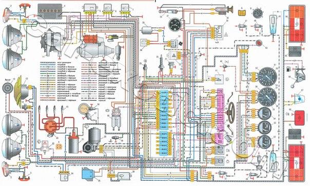 Схемы электропроводки ВАЗ