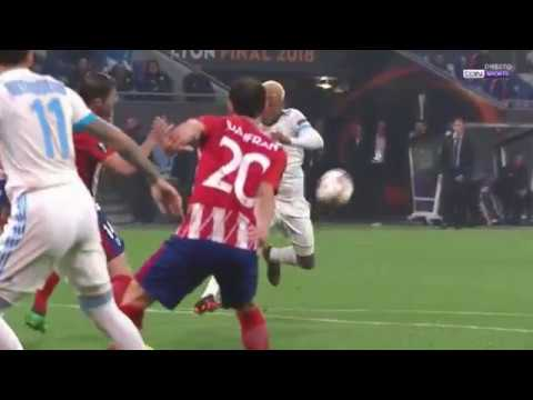 Olympique Marseille vs Atlético Madrid 0-3 UEFA Europa League Final N'Jie golden ball shot