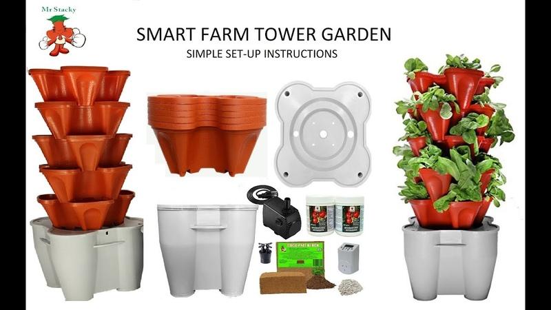 Гидропонная грядка ТАУЭР с автополивом How to set up Smart Farm Hydroponic Tower Garden