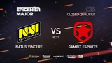 Natus Vincere vs Gambit, EPICENTER Major 2019 CIS Closed Quals , bo1 4ce &amp Lex