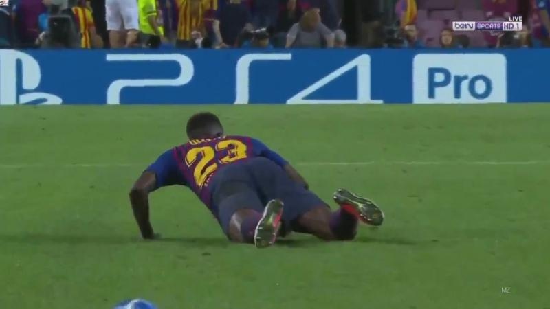 Барселона 3 - 0 ПСВ. Вторая желтая Умтити