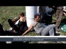 Лисичанск. 25 июля, 2014. Избитые местные ополченцы у карбата.