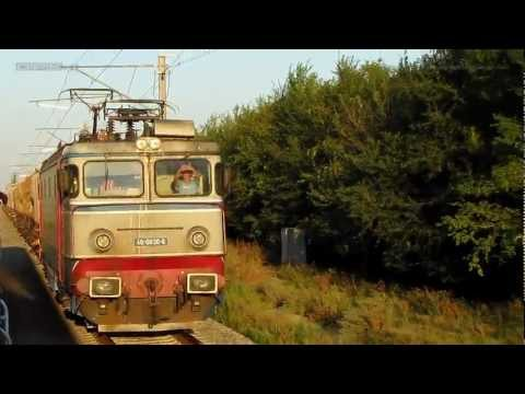 Intrecere cu trenuri - marfarul depaseste personalul - Rennen mit Züge - Trains race