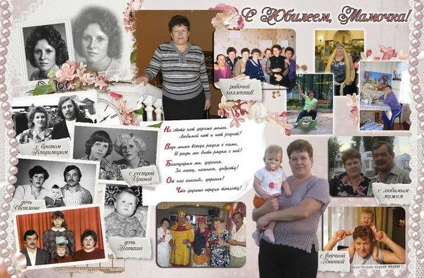 Плакат на день рождения маме своими руками с фото