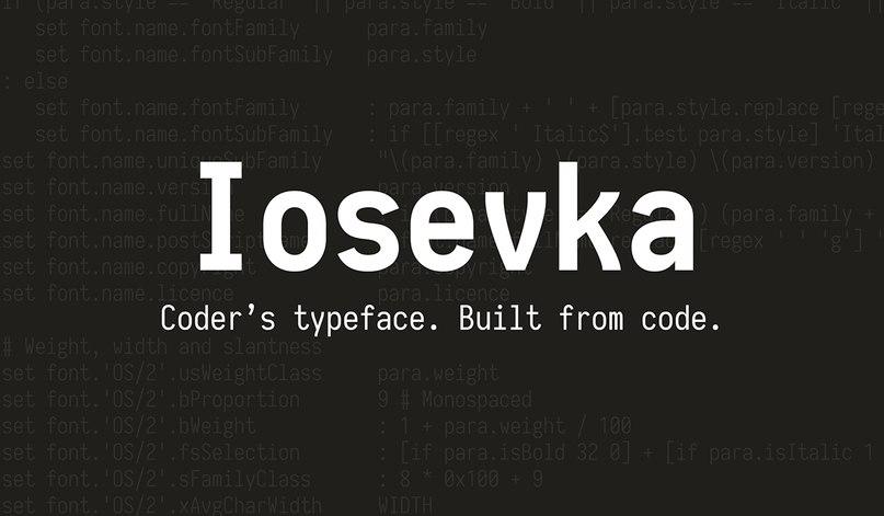 шрифт iosevka-slab-1.6.3