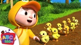 Ten Little Duckies (A Counting Song) ABCkidTV Nursery Rhymes &amp Kids Songs