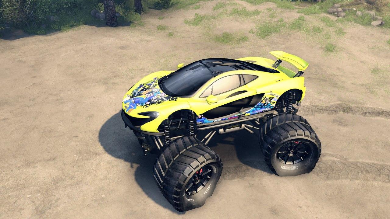 McLaren P1 Monster truck. для Spintires - Скриншот 1