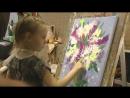 Рисуем с детьми. Картина акрилом поэтапно - Букет сирени. Пальчиковая живопись.