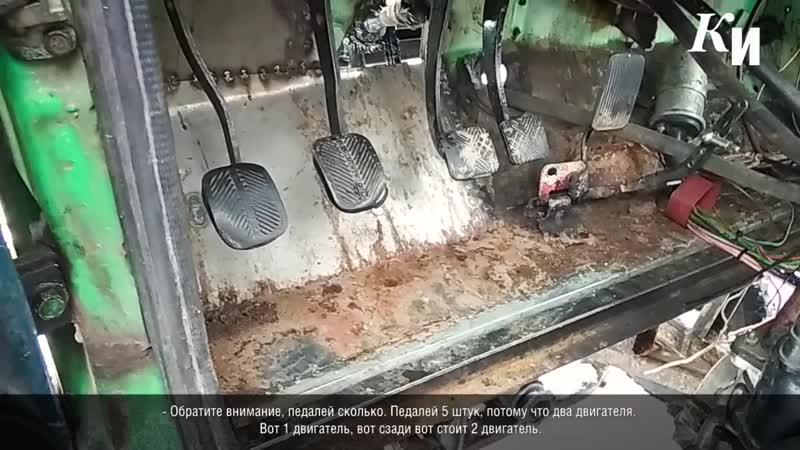 В Курске Снежная детка чистит улицы и гоночную трассу