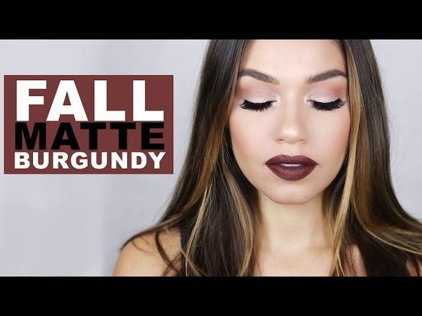 Fall Makeup Look Matte Burgundy EmanMakeup