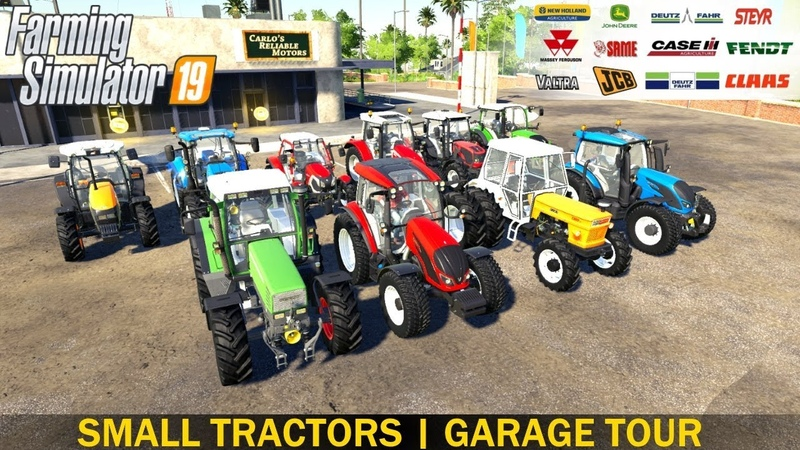 Farming Simulator 19 SMALL TRACTORS | Garage Tour