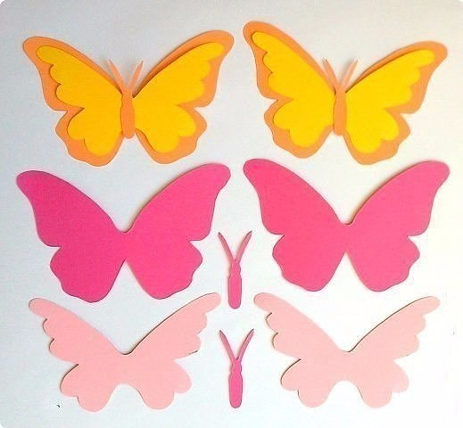 Поделки бабочка из бумаги шаблон