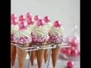 десерт в вафельных рожках
