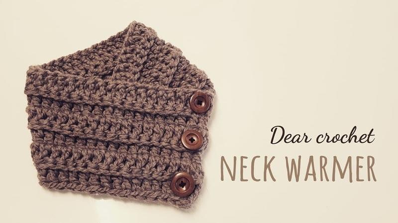 선물하기 좋은 쉽고 빠른 코바늘 넥 워머 :남녀모두 착용가능한 사이즈 (crochet neck warmer