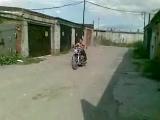 Мотоцикл с двигателем от ЗАЗ и инжектором.