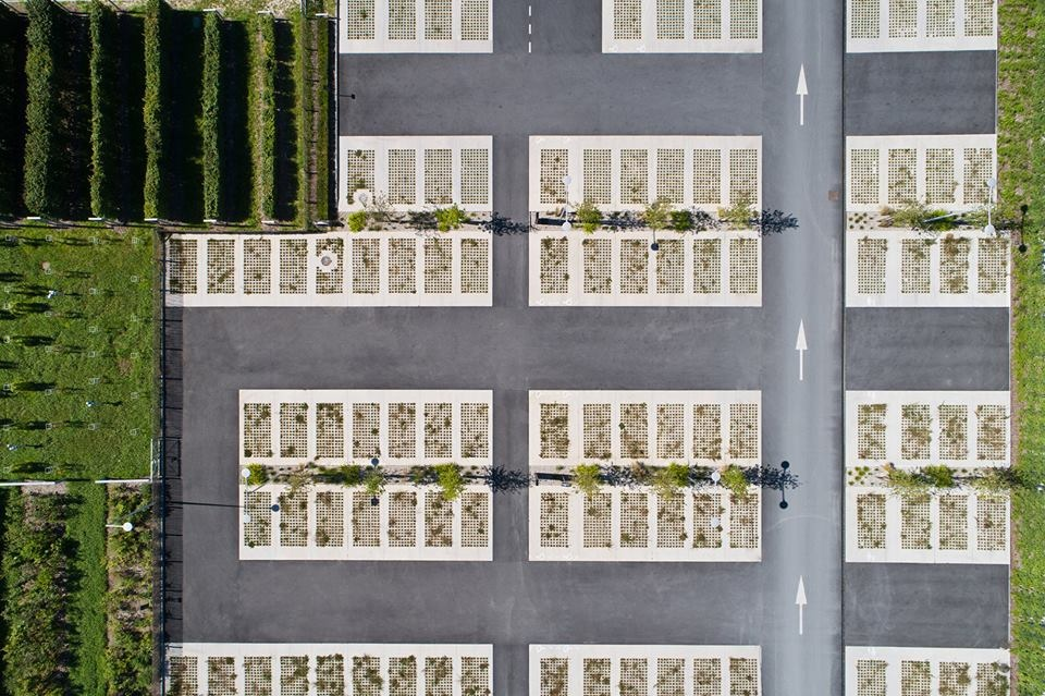 Мы привыкли к бескрайним асфальтированным пространствам вокруг торговых центров.