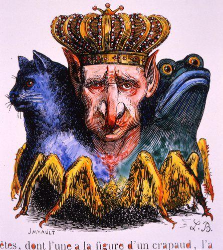 Изображение демона Ваала из «Инфернального словаря» Коллена де Планси