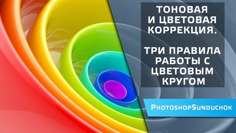 Тоновая и цветовая коррекция | Три правила работы с цветовым кругом