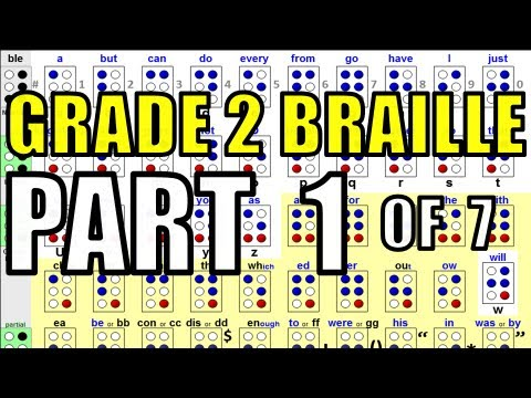 Grade 2 Braille [1/7] - How to Memorize 50 of the 64 Braille Cells