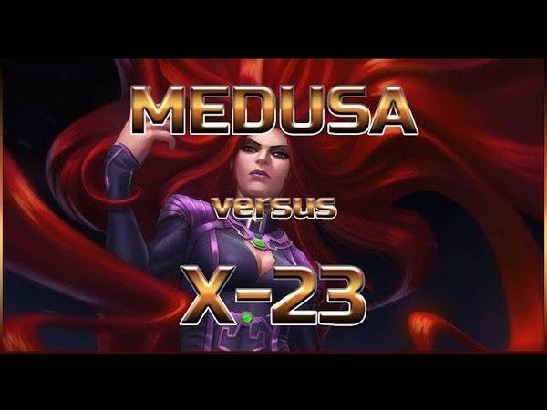 Medusa r5 vs Wolverine X 23 Labyrinth of Legends by Legacy mcoc