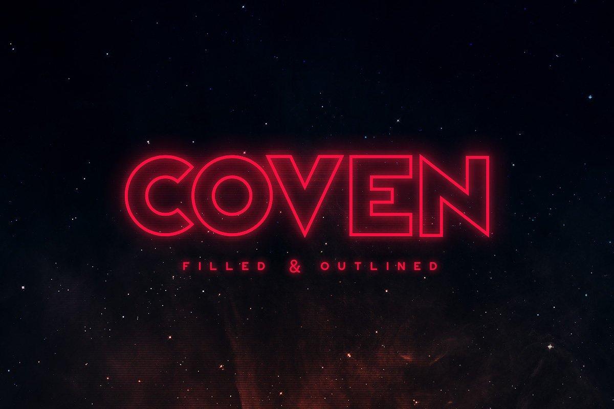 Шрифт - Coven