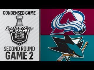 Colorado Avalanche vs San Jose Sharks R2, Gm2 apr 28, 2019 HIGHLIGHTS HD