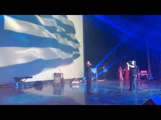 Alexandros Tsopozidis-Гимн ГРЕЦИИ перед боем МИХАЛИСА ЗАМБИДИСА в МОСКВЕ.