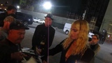 Sofia Boutella signing autographs at Egyptian Theatre parking lot